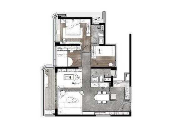 凌雲(2),3居,建筑面积约106㎡