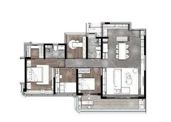 雲庭,4居,建筑面积约131㎡