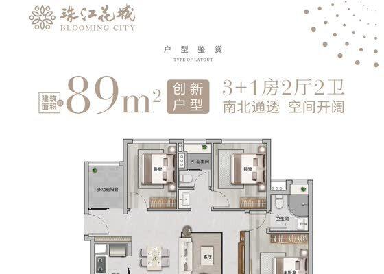 四期约89㎡ 3+1房2厅2卫3