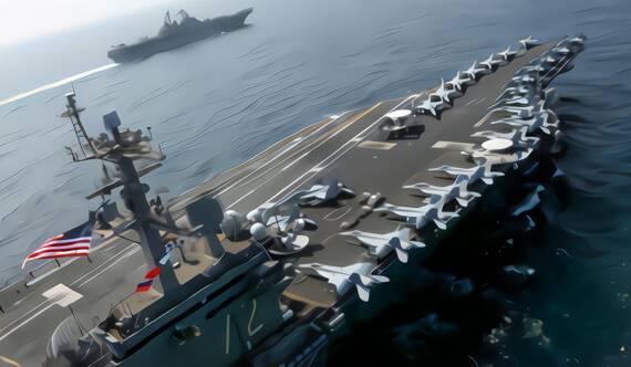 """美軍在中東集結""""雙航母""""英媒:伊朗不是薩達姆"""