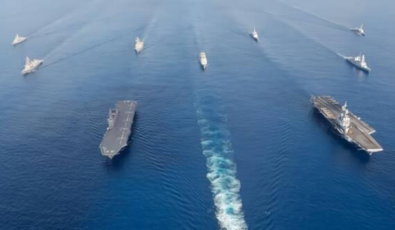 法日雙航母編隊印度洋大搞軍演 下一站南海?