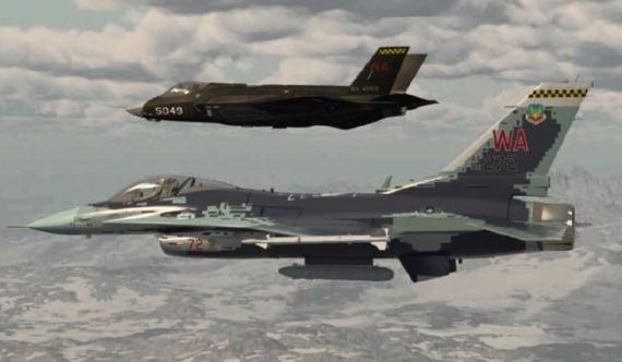 """""""蘇57""""列裝美國假想敵部隊 與F35結伴飛行"""