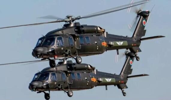 中国空突旅主力装备!陆军8架直20编队突击