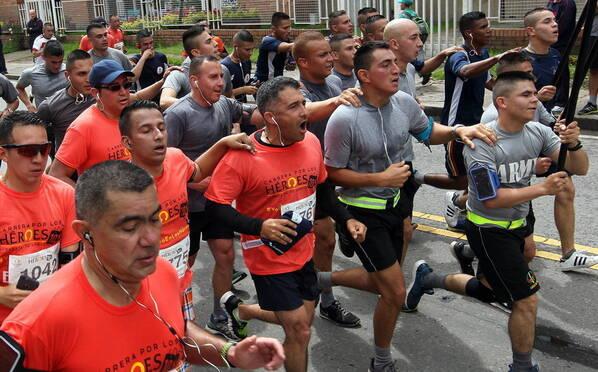 """哥伦比亚""""卡雷拉英雄""""马拉松:残疾运动员参赛"""
