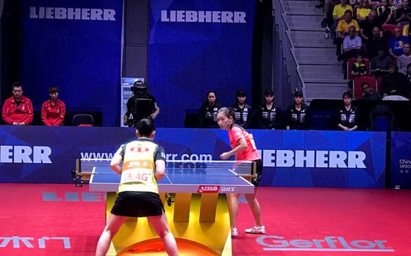 世乒赛-中国3-1日本夺冠 丁宁霸气怒吼