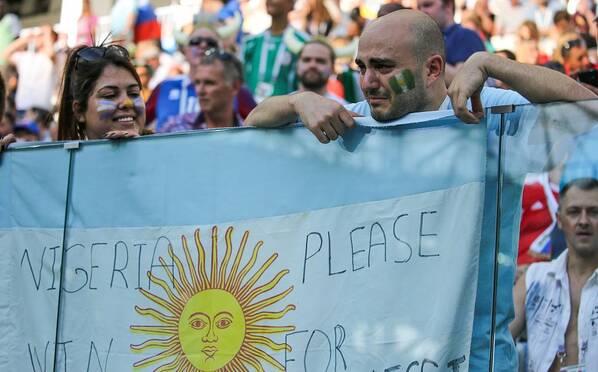 帮帮梅西!阿根廷球迷流泪挺尼日利亚