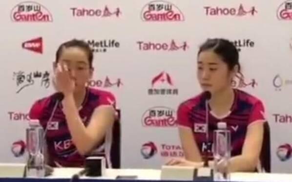 韩国女神因太弱被打哭 中国队成摧花辣手