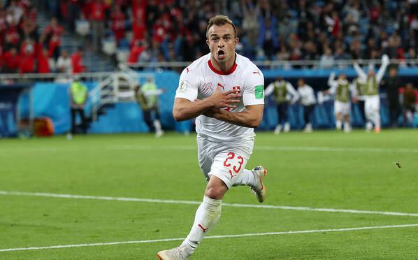 沙奇里单刀绝杀!瑞士2-1逆转塞尔维亚