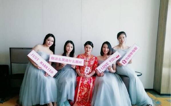 中國體壇又一美女冠軍大婚  伴娘也很搶鏡