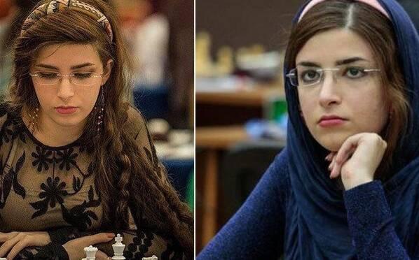 伊朗美女国象棋手遭开除 因未戴头巾参赛