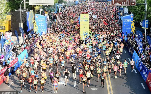 2017上海国际半程马拉松开跑
