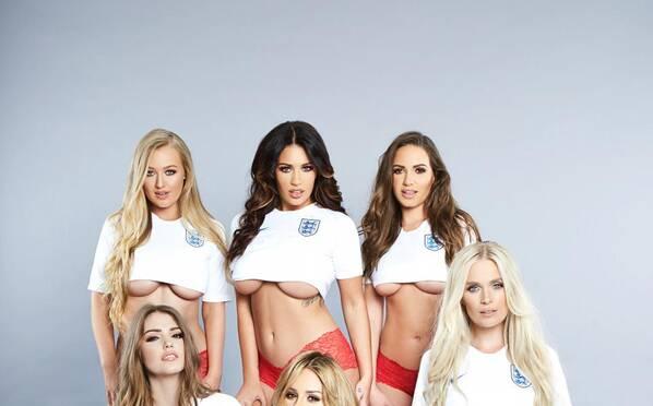 英超宝贝拍性感写真 预言英格兰将1-0战胜巴拿马