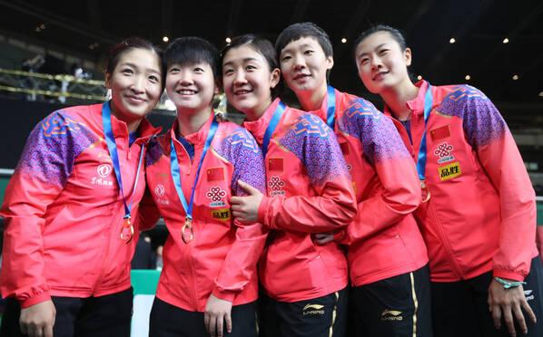 九连冠!中国女乒3-0横扫日本捧杯