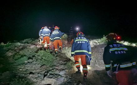 甘肅馬拉松遇難救援現場 5人失聯正在救援中