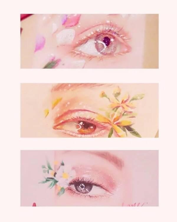 """唯美彩铅手绘眼睛,""""桃花眼""""绘画参考"""