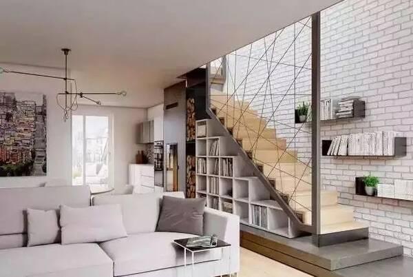 楼梯能够怎么用起来做收纳?看下别人都是怎么做的!