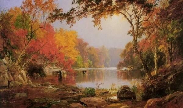美国艺术家的风景作品宏伟壮观,构图巧妙,犹如史诗般