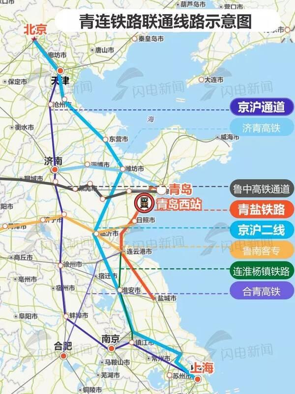 按照计划,12月20日,青连铁路将具备开通条件,未来从青岛西站出发可2
