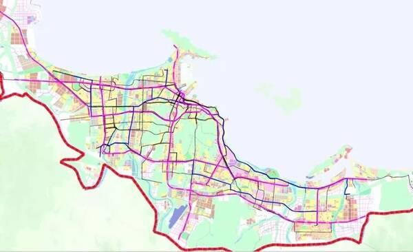 常规公交支线  远期公交干线规划分布图 此外,公交场站规模标准按照