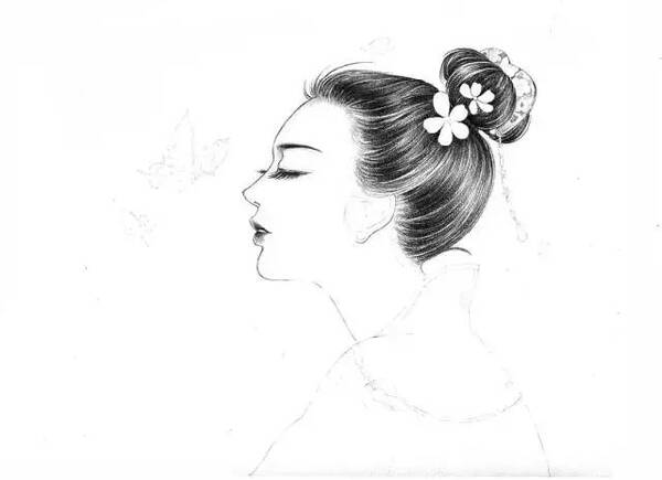古装女皇手绘图片铅笔