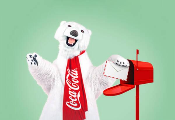 """【发现好物】想和可口可乐""""萌宠""""北极熊一起堆雪人,再来个温暖的抱抱图片"""