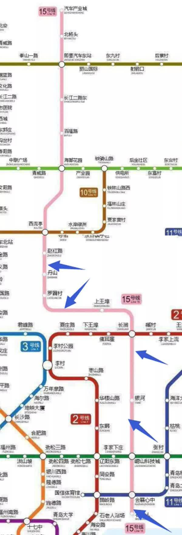 又有两条青岛地铁线走向定了,这些城区