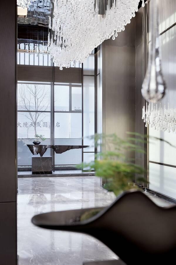远洋天瑞宸章售楼处|ideal_ylh地产设计组_欧模120平米设计师装修费用图片