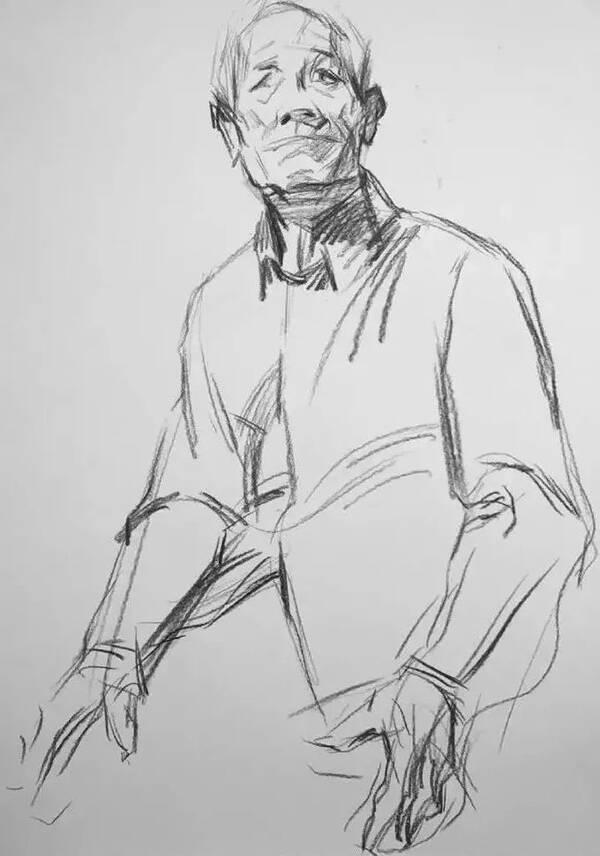 原标题:校考必看  素描半身像写生步骤全解~  1 构 图 半身人像的构图要求把头、颈、躯干、上肢(特别是手)和下肢的大腿部完整地表现出来,有时还要考虑到道具及其环境气氛的表现。要通过构图的精心组织,集中表现人物的造型特征。 半身人像构图比头像构图要复杂一些,为了取得满意的构图,最好还是采用小构图,有利于推敲构图的形式和效果,当小构图确定之后,再正式下笔构图落幅。  2 轮 廓 在半身人像写生打轮廓过程中,要始终注意不受衣服的影响而考虑人体本身的结构。 依据所确定的小构图,在画面上首先确定头顶的长度,并以