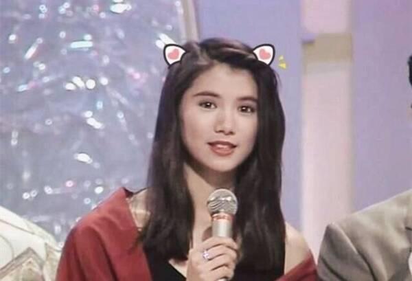 袁咏仪长发造型很惊艳,看她年轻时的照片才懂为何叫靓靓图片