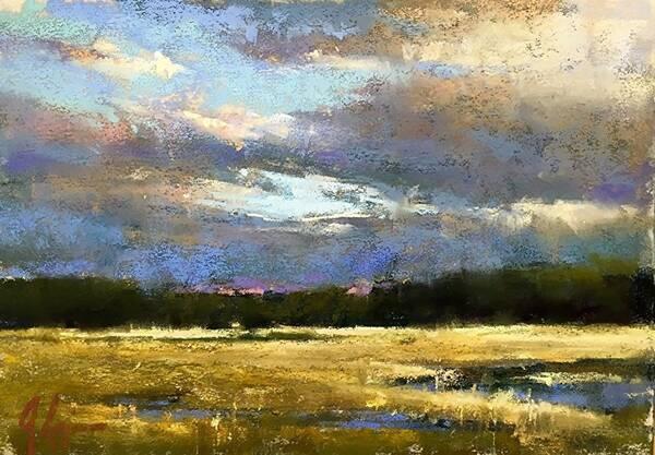 美国艺术家阿奎尔的风景作品色彩鲜明,朦胧中透着浪漫!