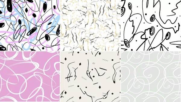 手绘的方式来表现直线的轨迹,随意的笔触,不拘于形式的写意体现了图片