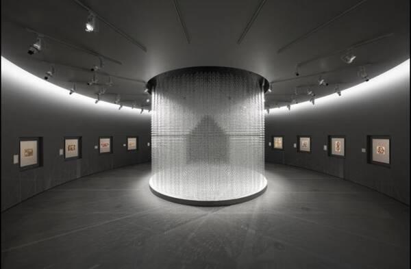 圆形展览厅.图片来自