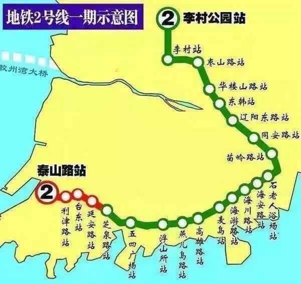 青岛地铁2号线西段开通时间定了!还有1,4,8号线新进展