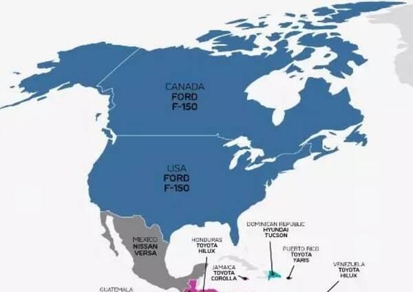 各国内啥车型最畅销?美国猛禽俄罗斯现代,中国的不是大众或丰田