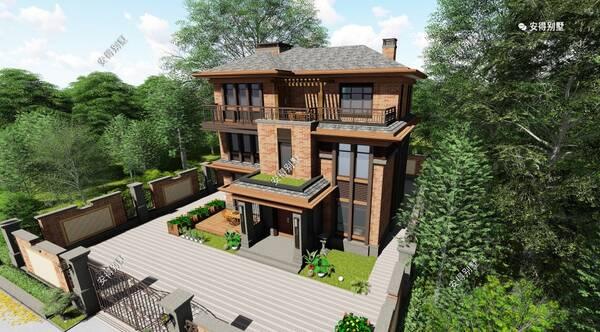 精选出5套新中式合院别墅,适合农村自建房的设计,好房图片