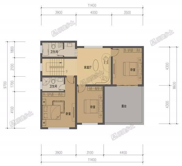 12乘10米中式别墅,白墙灰瓦,二层露台,纯美舒适