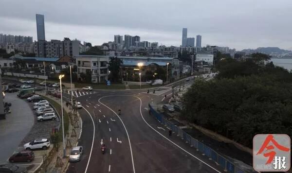 滨江西路延长线已通到桂景湾路,终点是买海南别墅图片