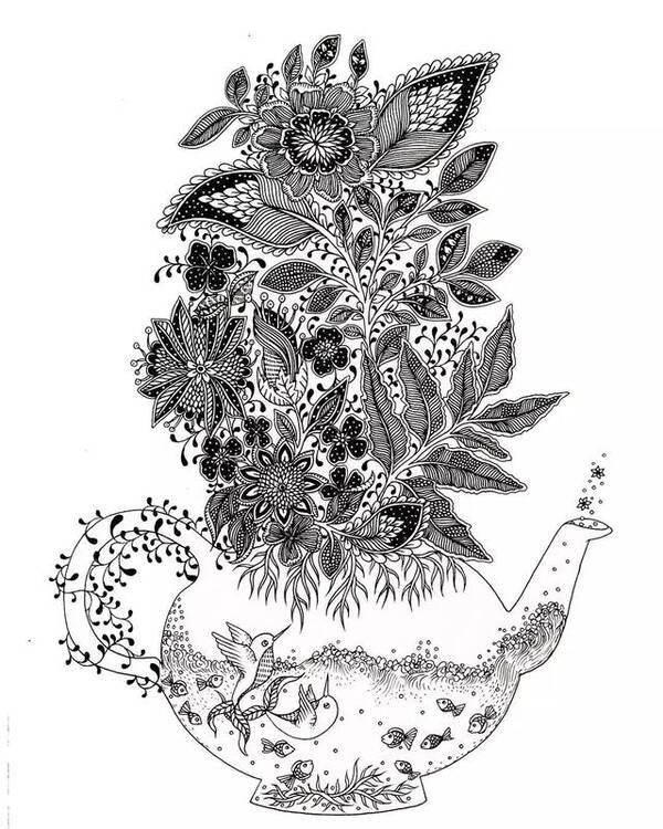 基础手绘黑白图案