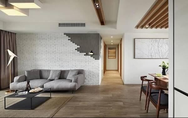 老公装修125平新房,客厅背景墙这设计还是第一次见,忍不住晒晒