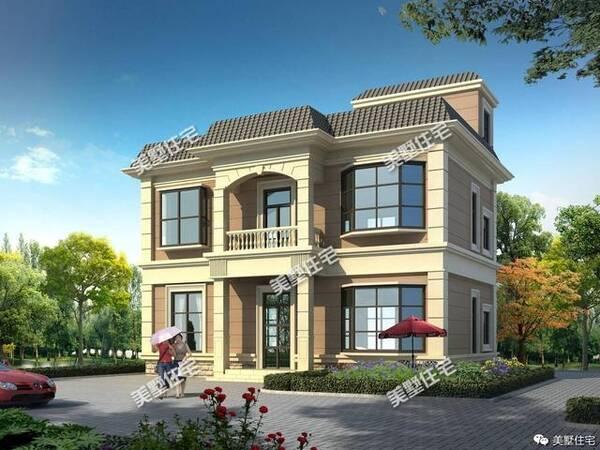今天给大家看简单房屋设计图 款式一: 占地尺寸:12x11米 主体造价:30图片