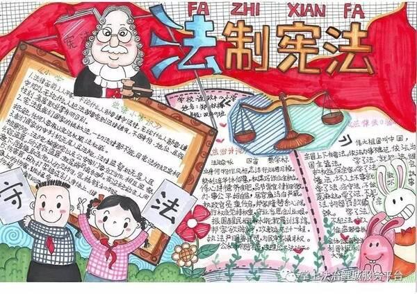 鲤城区第九届宪法主题学法手抄报优秀作品展图片