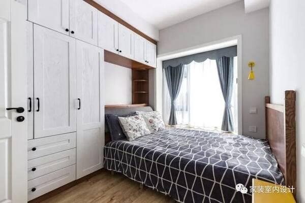 55㎡清新文艺北欧风窝居,床头结合柜体的设计,拯救了小卧室!图片