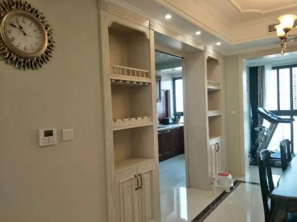 4 5 6 除了非承重墙,厨房门两侧的空间如果可以的话,也是可以装成酒柜图片