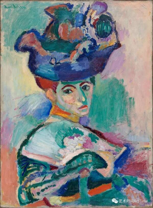 在1905年绘成的一幅油画,其上的女性是马蒂斯的妻子艾米丽(amelie).图片