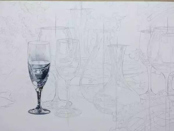 素描画简单水杯步骤