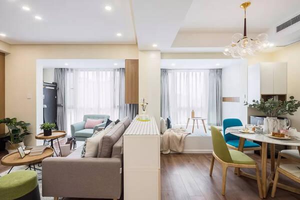 56㎡单身公寓装修效果图,精致蜗居小屋
