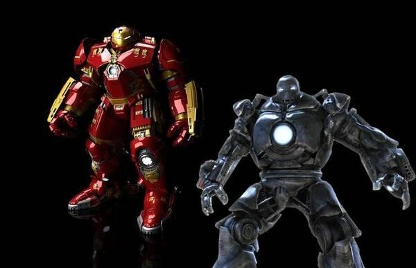 马克1的基础上,集合一众科学家造出来的人形机甲,外形上和钢铁侠的