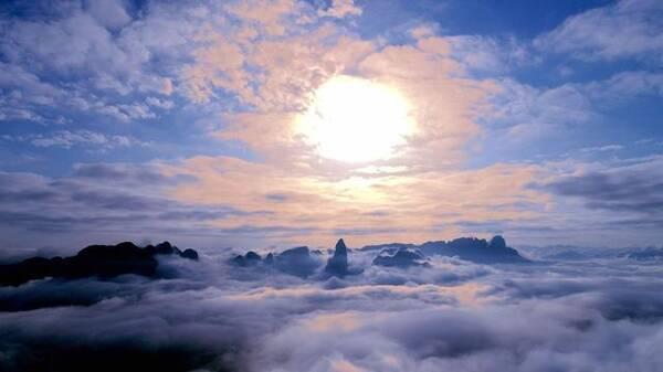 云端之上 俯瞰中国:航拍浙江仙居 青山绿水美到醉