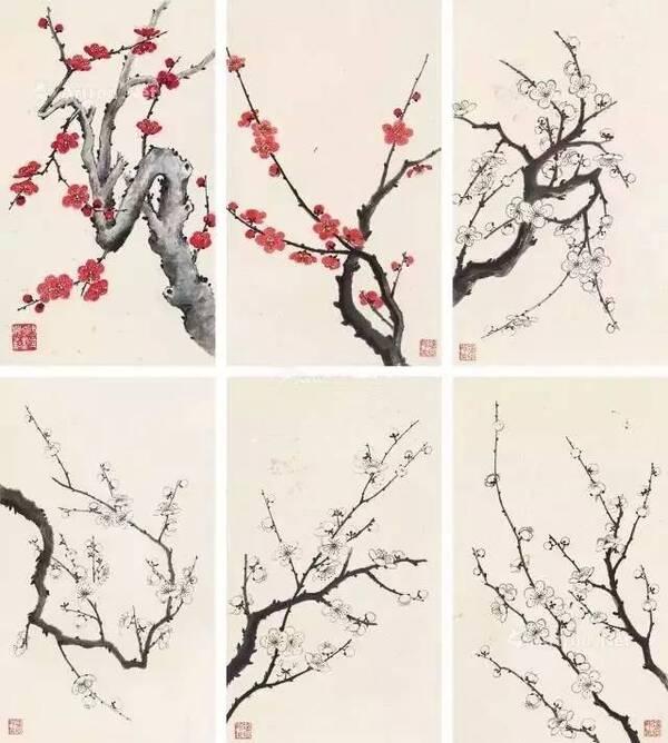 10位国画名家,30幅梅花画作,配上梅花诗词,相得益彰图片