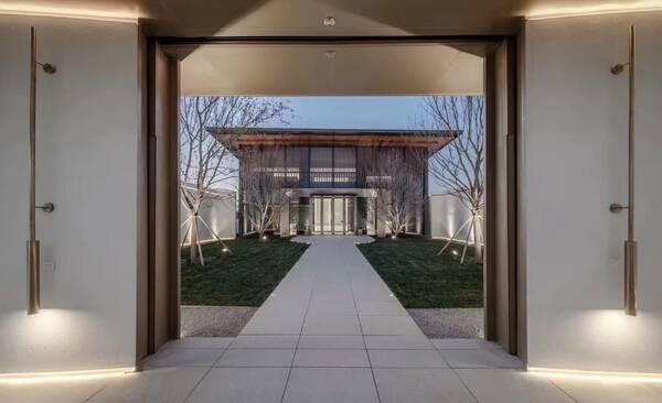 植物天瑞宸章售楼处|ideal_ylh地产设计组_欧模防护栏远洋景观设计图片